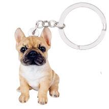 Francia Bulldog kulcstartó