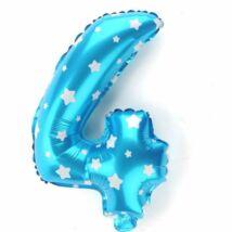 4-es Formájú Héliumos Fólia Lufi - kék