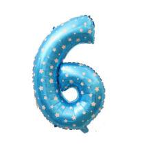 6-os Formájú Héliumos Fólia Lufi - kék