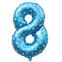 8-as Formájú Héliumos Fólia Lufi - kék