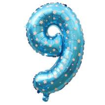 9-es Formájú Héliumos Fólia Lufi - kék