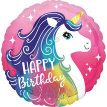 Happy Birthday Unikornis fólia lufi