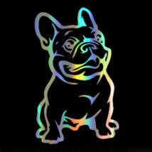 Francia Bulldogos matrica - hologram