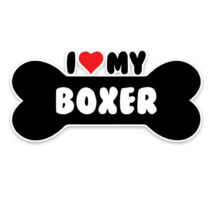 I love Boxer csont alakú matrica