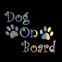 Dog On Board matrica - hologram