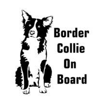 Border Collie On Board matrica