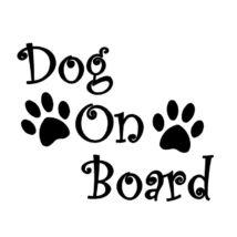 Dog On Board matrica - fekete