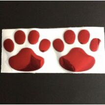 Kutya tappancs matrica autóra - piros