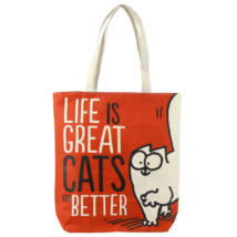 Life is Great Cat's are Better Simon's Cat  táska