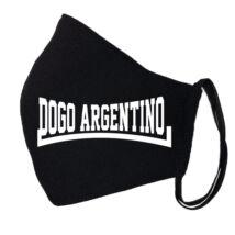 Argentin dog fekete szájmaszk