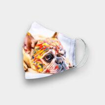 Francia Bulldog mintás szájmaszk - festékes