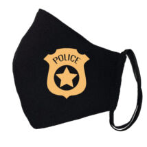 Police mintás fekete szájmaszk
