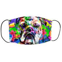 Angol Bulldog mintás szájmaszk - color