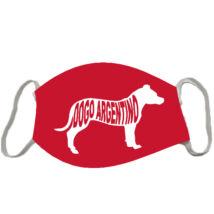 Argentin dog mintás szájmaszk - red