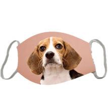 Beagle mintás szájmaszk - rose
