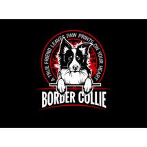 Border Collie mintás szájmaszk - igaz barát