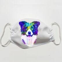 Border Collie mintás szájmaszk - color