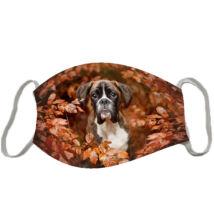 Boxer mintás szájmaszk - ősz