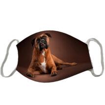 Boxer mintás szájmaszk - barna