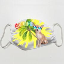 Chihuahua mintás szájmaszk - summer