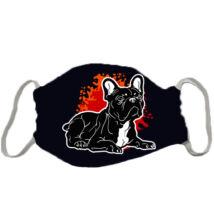 Francia Bulldog mintás szájmaszk - fire