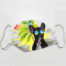Francia Bulldog mintás szájmaszk - summer