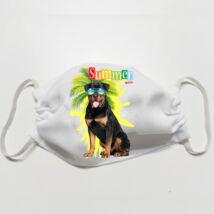 Rottweiler mintás szájmaszk - summer