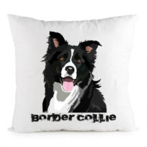 Border Collie mintás párna