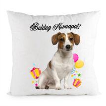 Jack Russell terrier mintás párna - Boldog Névnapot