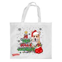 Corgi mintás karácsonyi bevásárló táska