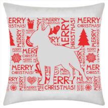 Bullterrier mintás karácsonyi párna
