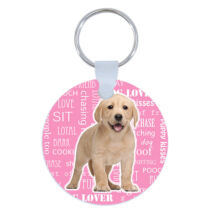 Labrador kulcstartó - rózsaszín