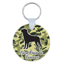 Rottweiler kulcstartó - best friends