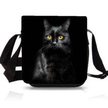 Cicás oldaltáska - Fekete macska
