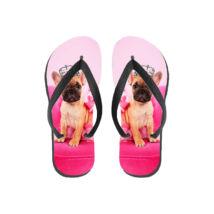 Francia Bulldog papucs (flip flop) - Princess