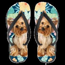 Yorkie papucs (flip flop) - hawaii