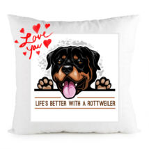 Rottweiler mintás párna - Love you