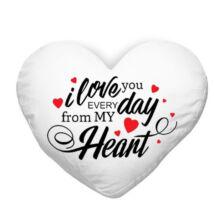 Szeretlek szívecskés párna