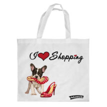 Francia Bulldogos bevásárló táska - love shopping