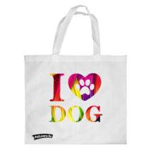 Love my Dog bevásárló táska - color