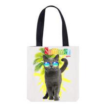Brit macska mintás válltáska - summer