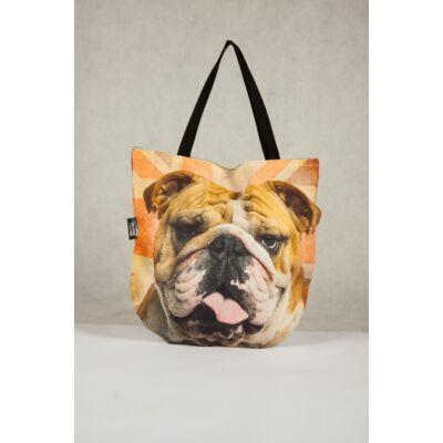 3D Angol Bulldog mintás táska