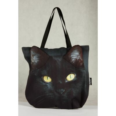 3D Macskás táska - fekete