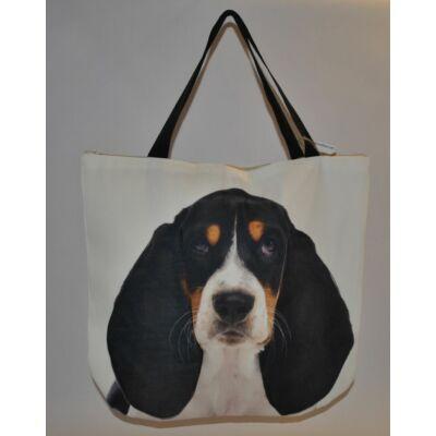 3D Basset Hound mintás táska 2