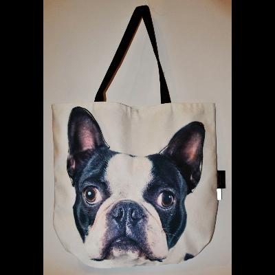 3D Boston Terrier mintás táska 2