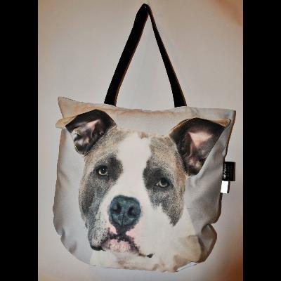 3D Amerikai Pitbull Terrier mintás kids táska