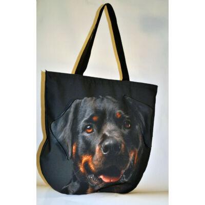 3D Rottweiler mintás táska