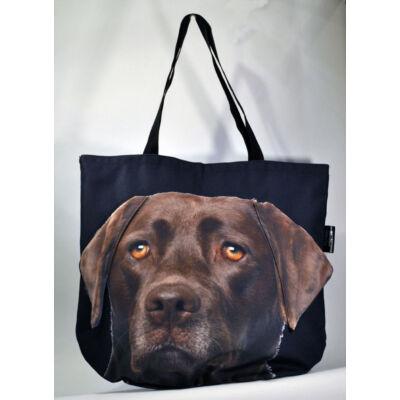 3D Labrador mintás táska - csoki