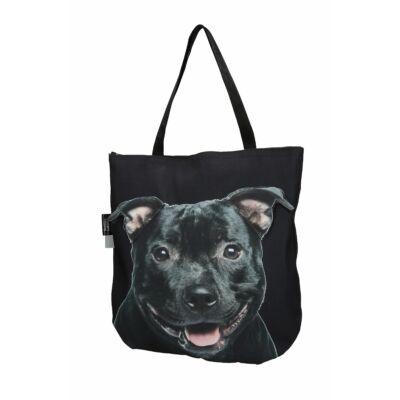 3D Pitbull mintás táska - fekete