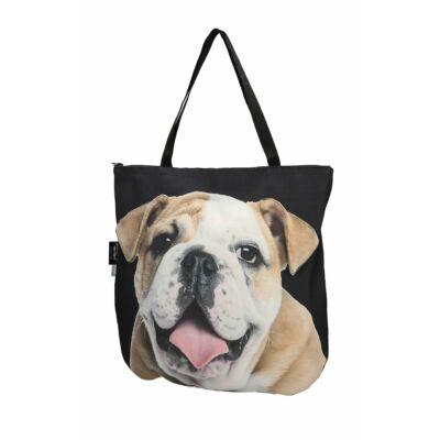 3D Angol Bulldog mintás táska 2